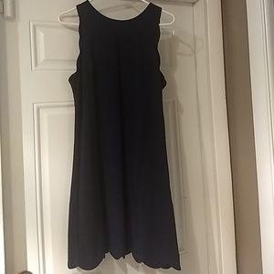 Vince Camuto Navy Sheath Dress Size 14